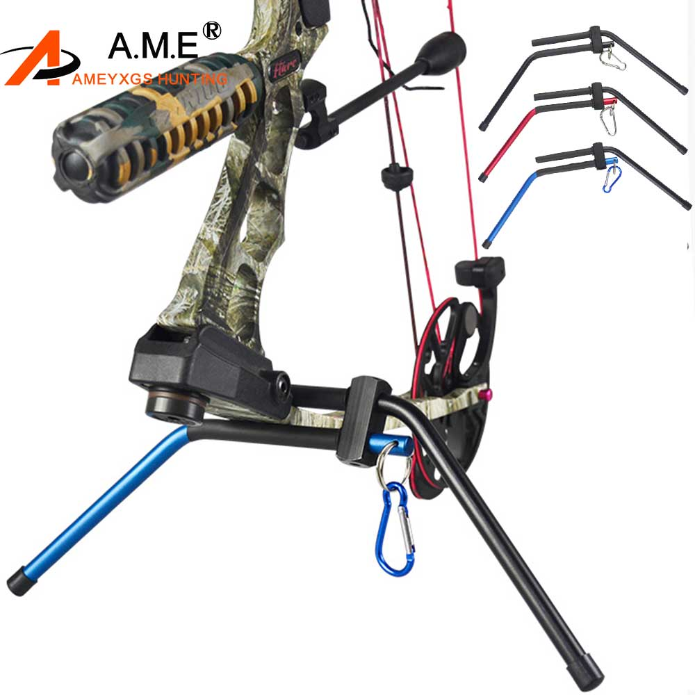 Archery Compound Bow Stand Holder Recurve Bow Rack Hanger Hunting Target Shooter