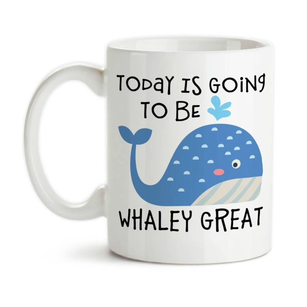 Today Is Going To Be Whaley Mug Milk Beer Travel Porcelain Coffee Mug Tea Cups image