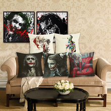 RECOLOUR  hot sale clown Cushion Cover home Decorative Throw Pillow Car Case almofadas cojines decorativos para sofa