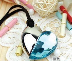 Blue Diamond Heart Style Pendrive 64 GB USB Flash Drive 512 GB Pen - Externe opslag - Foto 6