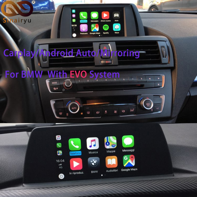 Sinairyu 2019 Reversing Camera Interface Module for BMW With EVO System With Carplay Mirroring-in Car Multimedia Player from Automobiles & Motorcycles    1
