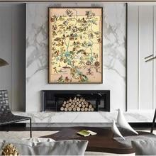 Mapa vintage de 1935 América Wisconsin Nuevo México lienzo pinturas Kraft carteles pegatinas decoración del hogar regalo familiar