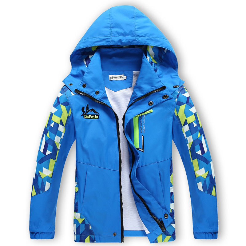 Winter Boys Girls Jackets Kids Hooded Coats Thick Thin 4 12Y Children s Active Outwear Double