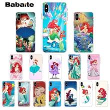 Babaite Princess Ariel Customer High Quality Phone Case for iPhone 7 7plus X XS MAX 6 6S 8 8Plus 5 5S XR недорого