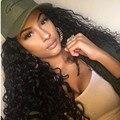 360 de Encaje Frontal Pelucas 180% Densidad Brasileño Loose Rizado Llena Del Cordón pelucas Peluca Bleachd Nudos Del Frente Del Cordón Del Pelo Humano Para Las Mujeres Negras