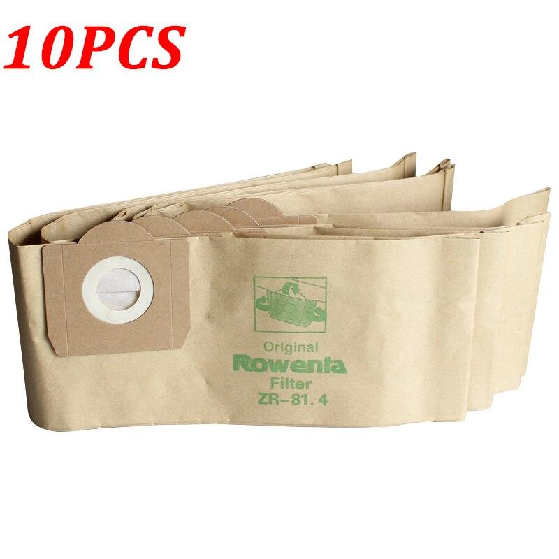 10 Uds bolsas de polvo filtro para Karcher MV3 WD3 WD3200 WD3300 A2204 A2656 de bolsas de papel para Rowenta RB88 RU100 RU101