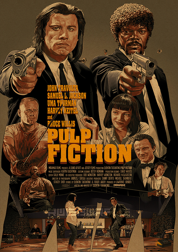 HTB11.6pbh rK1RkHFqDq6yJAFXad Quentin Tarantino Movie Poster Collection, Vintage Kraft Poster, Decorative Poster, Home Decor, Movie Wall Sticker, Poster Movie