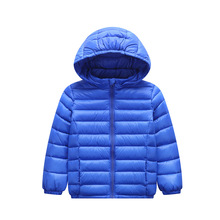 2-8T Children's Winter Clothing Parka Coat Down Cotton Jacket 2018 New Light Thin Boys Girls Cotton-padded Jackets Outerwear
