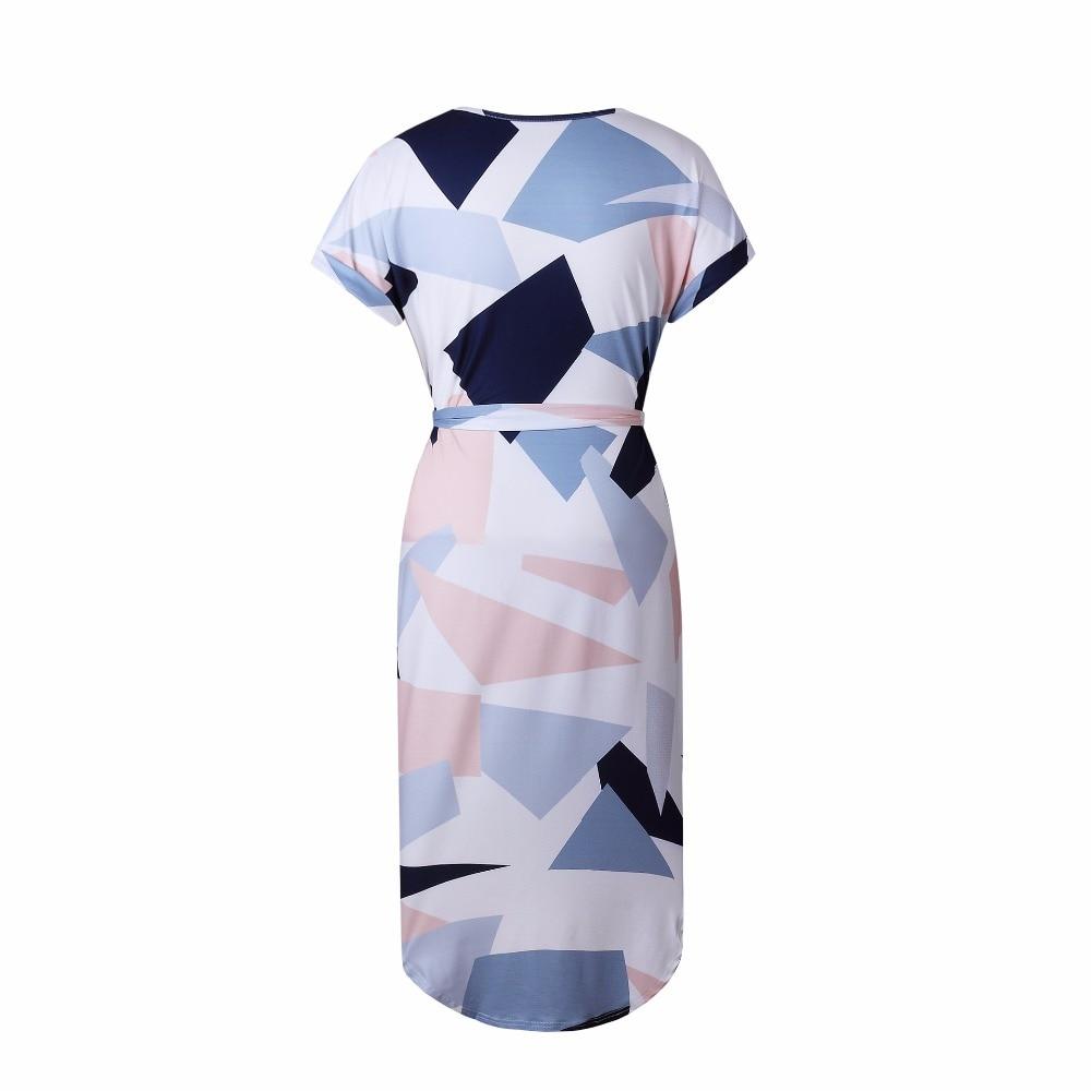OMCHION Plus μέγεθος 2018 καλοκαιρινό φόρεμα - Γυναικείος ρουχισμός - Φωτογραφία 3