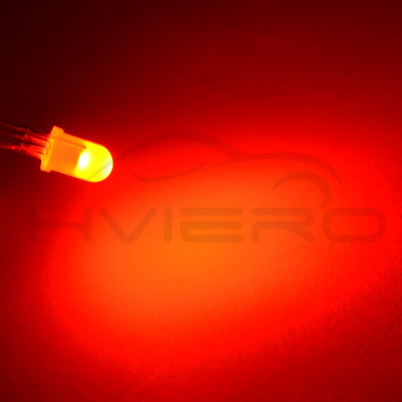 Hviero Ultra-Bright 5mm100pcs F5 5mm 4pin Diffused RGB Tri-Color Common Cathode Common Anode Red Green Blue emitting Diodes LED Lamp Bulb Diodes