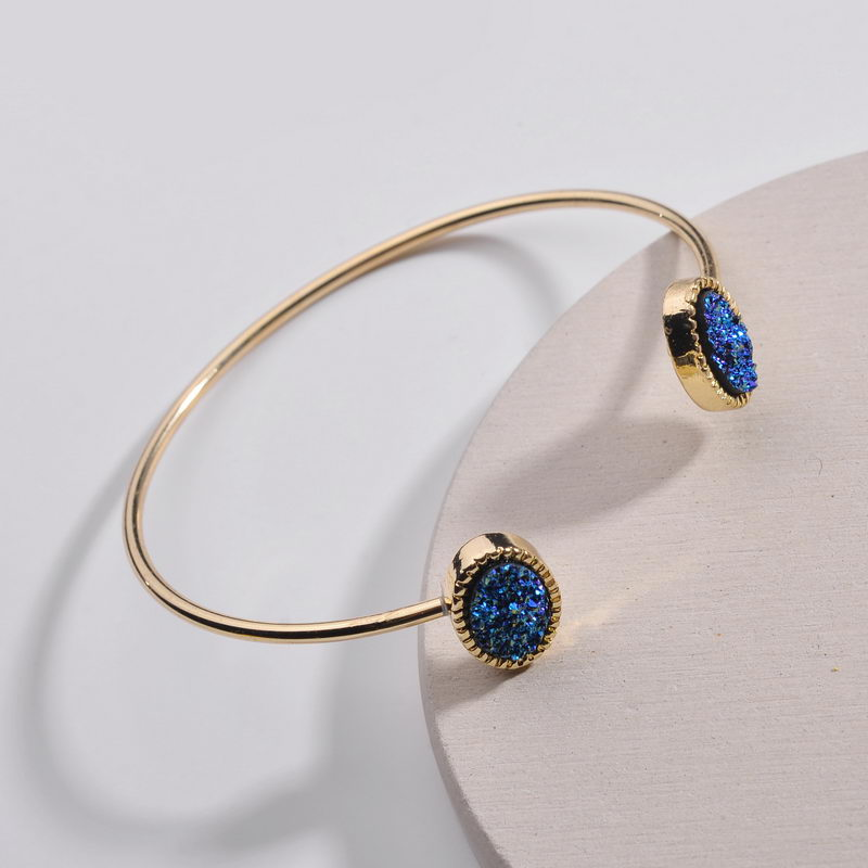 Jewelry Gold Oval Resin...