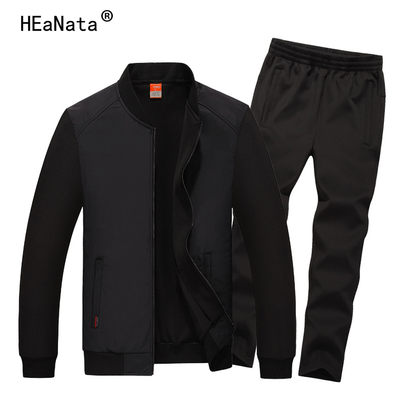 Big Size M-8XL Casual Mens Tracksuit High Quality 2019 New Man Fashion Sports Suit Men's Suit Set Jacket+Pants Men Sweatsuit