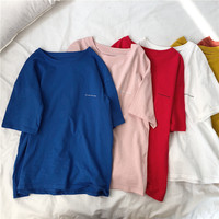 DZ Women T Shirt Pocket cat Top Tee casual Short sleeve X290