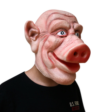 Pig Demon Mask Animal Funny Latex Full Face Helmet Halloween Adult Party Carnival Cosplay Masquerade Masks Costume Supplies