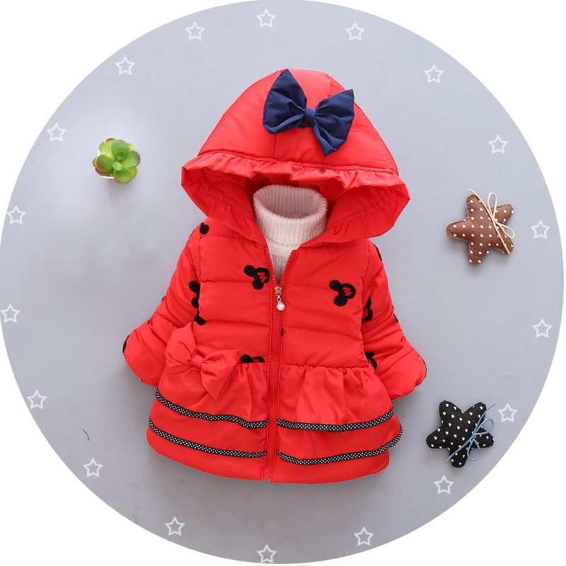 Newest 2016 Infant Winter Coats Baby Girs Minnie Jacket Hooded Wam Outdoor Children Outerwear Kids Parkas Cotton-Padded Coats children winter coats jacket baby boys warm outerwear thickening outdoors kids snow proof coat parkas cotton padded clothes