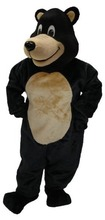 Custom made Deluxe Black Bear mascot costume cartoon by express free shipping