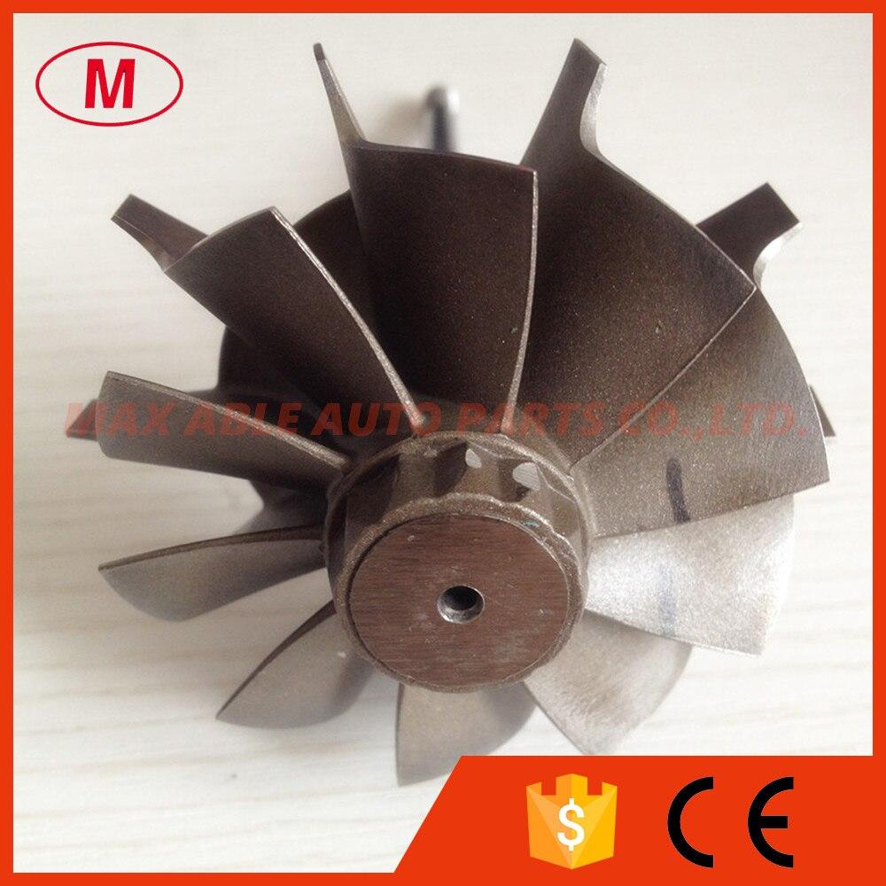 HX40 64X76mm 10 blades turbo wheel turbine shaft wheel journal bearing