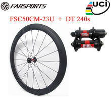 High quality carbon clincher wheelset 50mm 23mm newest road clincher wheelsets built Sapim aero spokes 36 ratchets upgraded free
