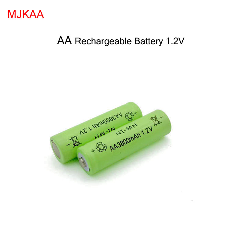 2Pcs AA Rechargeable Battery 3800mAh NI-MH 1.2V 2A 5# Baterias Batteries toys cameras
