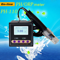 Industry Online PH/ORP Tester Monitor Digital PH Controller with 5M 10M 20M 30M Probe Sewage pH monitor ORP 1900 ~+1900 mV