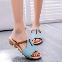 STAINLIZARD Moda Mujeres Zapatillas de Verano Zapatos de Las Cuñas de Las Mujeres Al Aire Libre Ocasional Femenina Zapatillas de Playa Antideslizante flip flop HDT1015