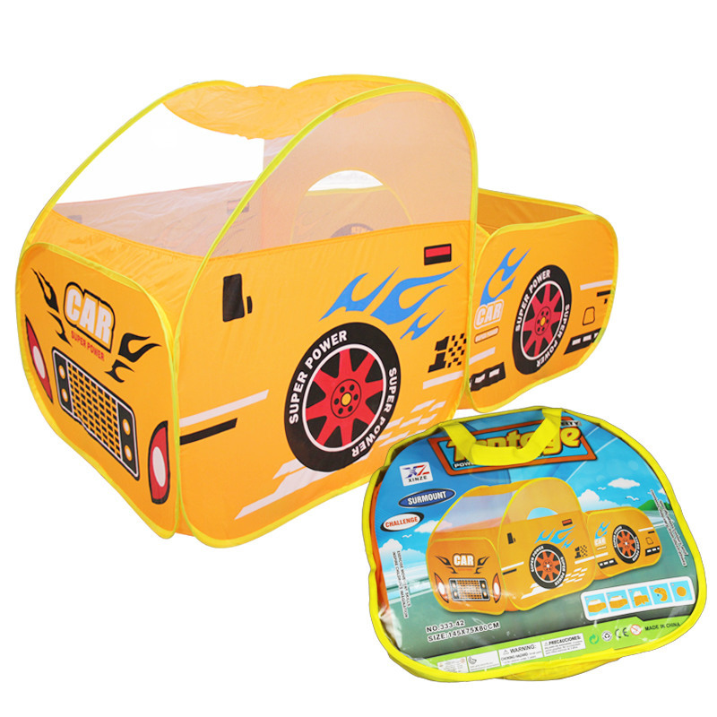 Baby Playpen Kid Safe Portable Playpen Toy Cars Tent Huge Car Design House Hut Ball Pool Ball Outdoor Indoor Kids Game Play Yard