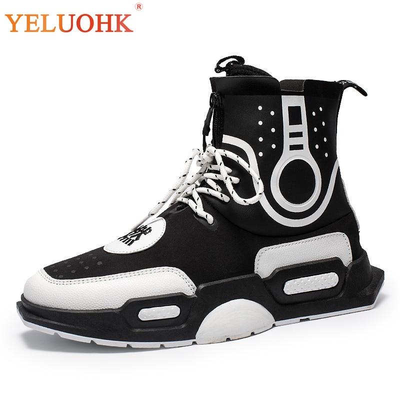 Fashion Men Boots Breathable Autumn Shoes Men Comfortable Boots Men Work Shoes Saftey цены онлайн