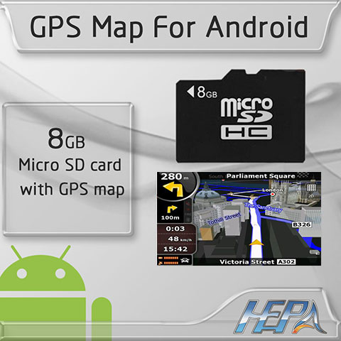 how to get map on sd card