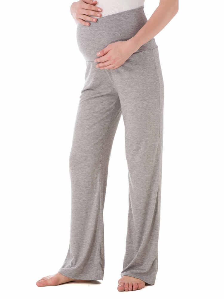 cc9fb1a5d13f5 Women's Maternity Wide/Straight Versatile Comfy Palazzo Lounge Pants  Stretch Pregnancy Trousers loft Yoga Work