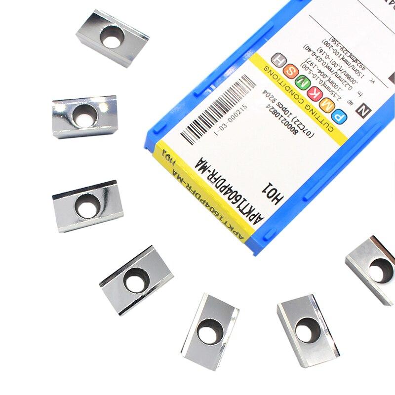 APKT1604 PDFR APKT 1604 MA H01 Aluminum Cutter Blade Insert Cutting Tool Turning Tool CNC Tools AL +TIN Alloy Wood