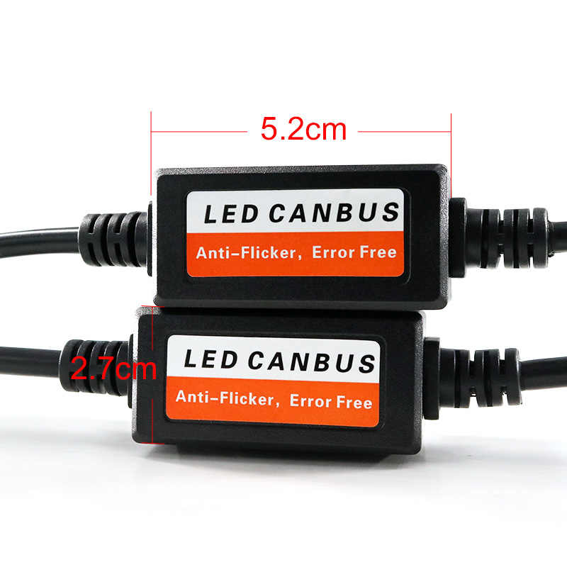 HLXG Car Light Accessories 2PCS H4 H7 LED Headlight Canbus Wiring Kit No Error Anti Flicker Resistor Canceler Decoder
