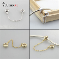 925 Sterling Silver Safety Chain Fit European Women Bracelet Necklace Jewelry Making