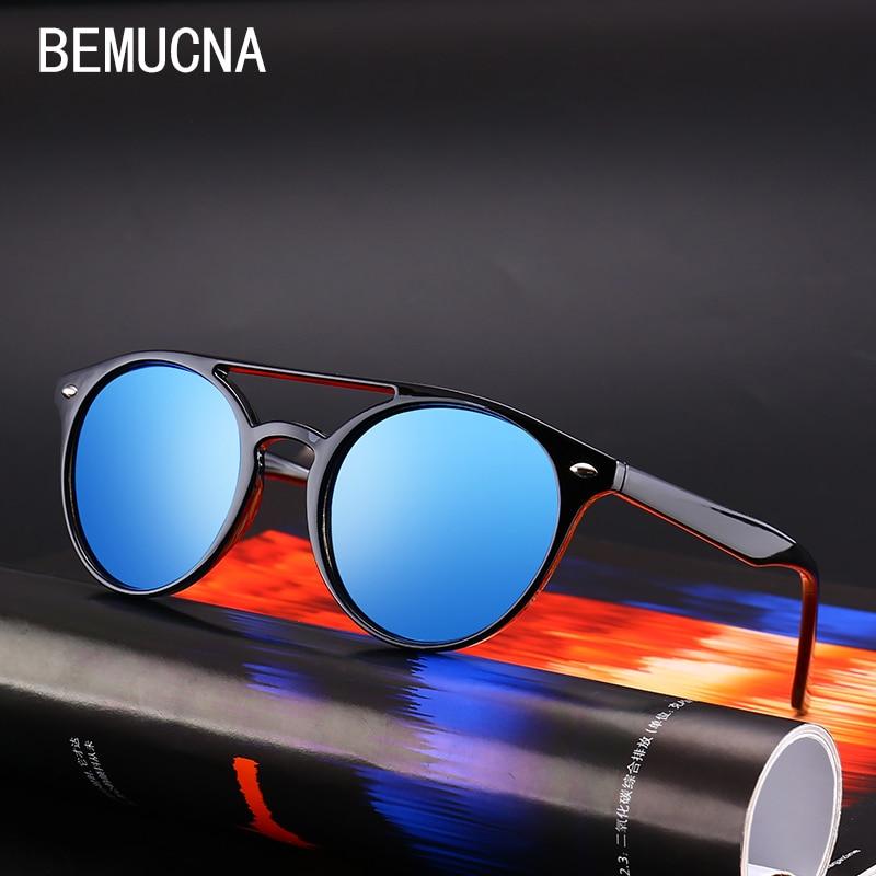 BEMUCNA 2018 Nova okrogla sončna očala Ženska sončna očala - Oblačilni dodatki