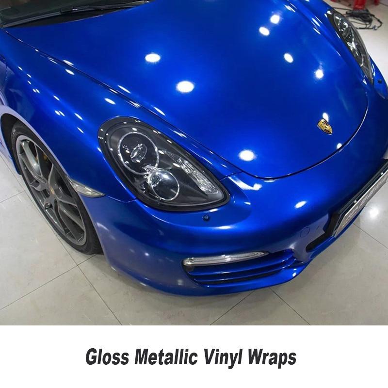 Car Wrap Vinyl >> Wrapping Film Car Wrap Gloss Dark Blue Metallic Glossy Glitter Metallic Car Wrap Vinyl 5ft X ...