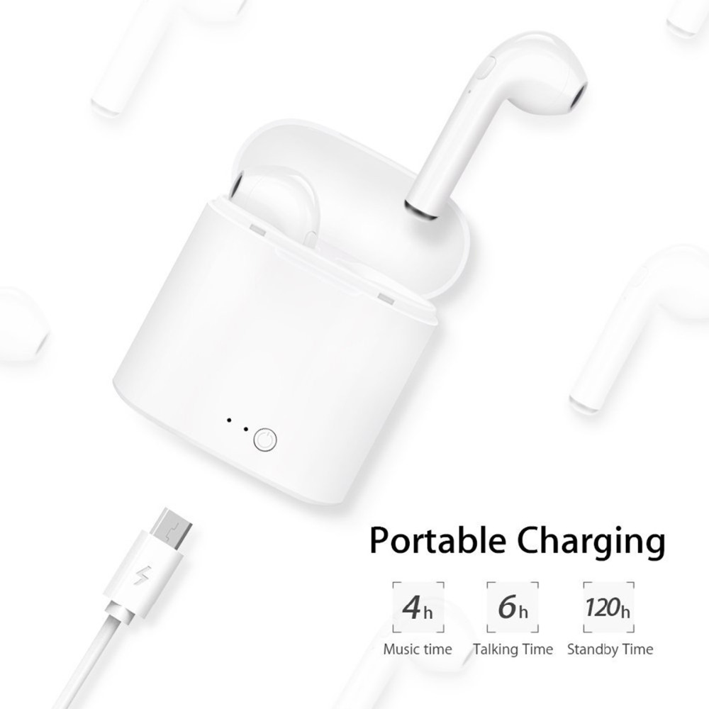 GONOKER Bluetooth Earbuds Wireless Headphones Bluetooth Headsets Mini TWS Earpieces V4.1 Stereo & HD Mic with Charging Case