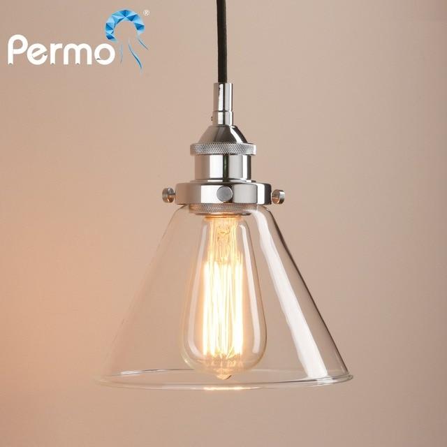 Permo Retro Pendant Lights Copper Gl Ceiling Lamp Modern Hanglamp Luminaire Vintage Fixture