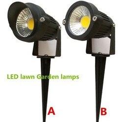 1 sztuka 5 W jasne AC/DC12VCOB lampy LED trawnik światła IP65 wodoodporna krajobraz światła zewnętrzne ogród ścieżka staw światła