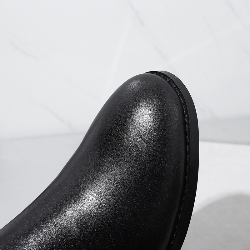 ZVQ fashion high boots 2017 winter new come side zipper round toe women buckle shoes quality low heel handmade long boots