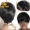 7A none lace human hair wig short straight brazilian none lace human hair wigs for black women unprocessed virgin human hair wig
