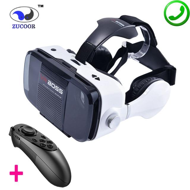 Z5 3D VR БОСС BOX Google Картон Виртуальная Реальность Очки Чехол 120 Градусов Для Наушников Динамик Кнопка для 4.0-6.3 дюймов Смартфон