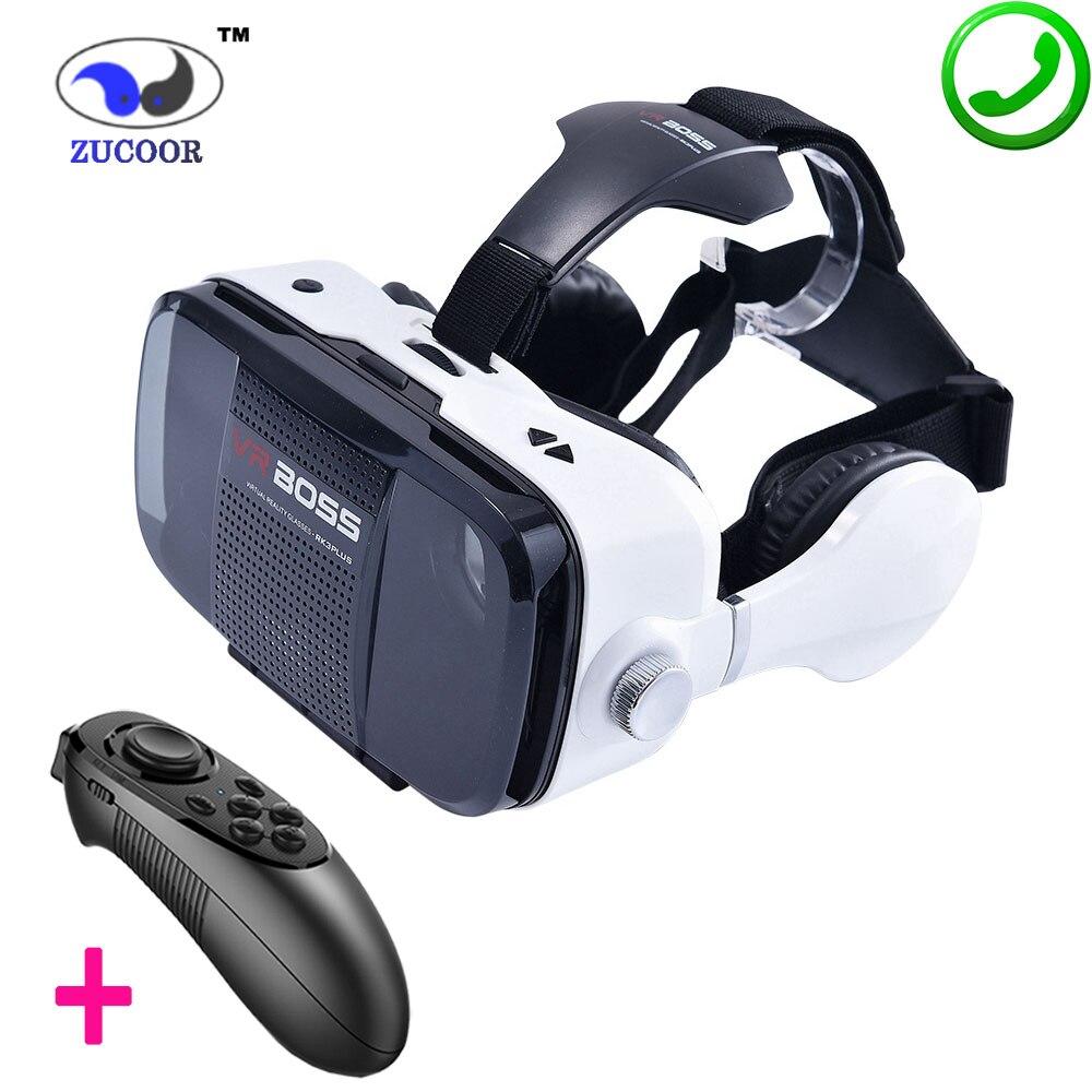 Z5 3D VR BOSS BOX Virtual Reality Google Cardboard Glasses Case 120 Degree Headphone Speaker Button