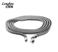 Lengkea jewery,men necklace 100% 925 sterling silver necklace 2.8MM Thick long chain necklace Men Gift Thai silver wholesale