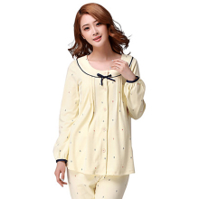 Summer Maternity Pajamas Set Nursing Clothes For Pregnant Long Sleeve Luxury Soft Cotton Maternity Sleepwear For Feeding 60M0039