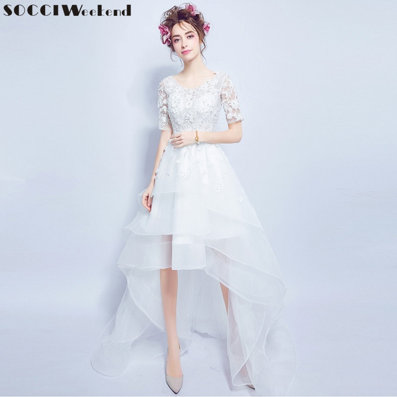 Socci weekend 2017 wedding dresses sexy lace flower fairy for Sexiest short wedding dresses