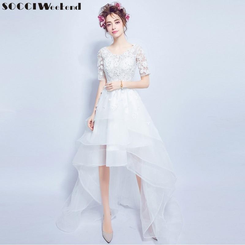 SOCCI Weekend 2017 Wedding Dresses Sexy Lace Flower Fairy