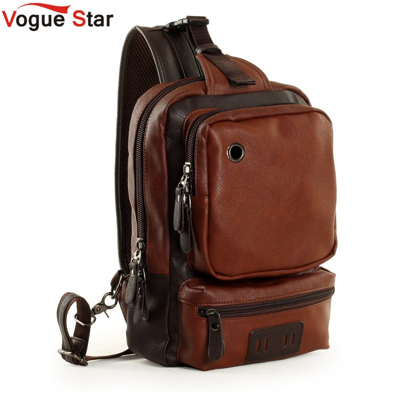 Brand Men's Shoulder Bag Vintage Men Crossbody Bag Men Chest Bags Casual Fashion PU Leather Men Messenger Bag L51-in Crossbody Bags from Luggage & Bags