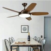 Nordic потолочный вентилятор лампа вентилятор Гостиная PAC имитация деревянный веер комнатный вентилятор огни кафе ресторанные светодиодные с