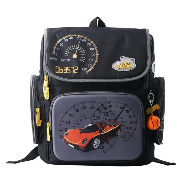 2017 New Cars School Bags Children Orthopedic Backpack Mochila Infantil High Quality Kids Satchel Waterproof Schoolbag Grade 1-6