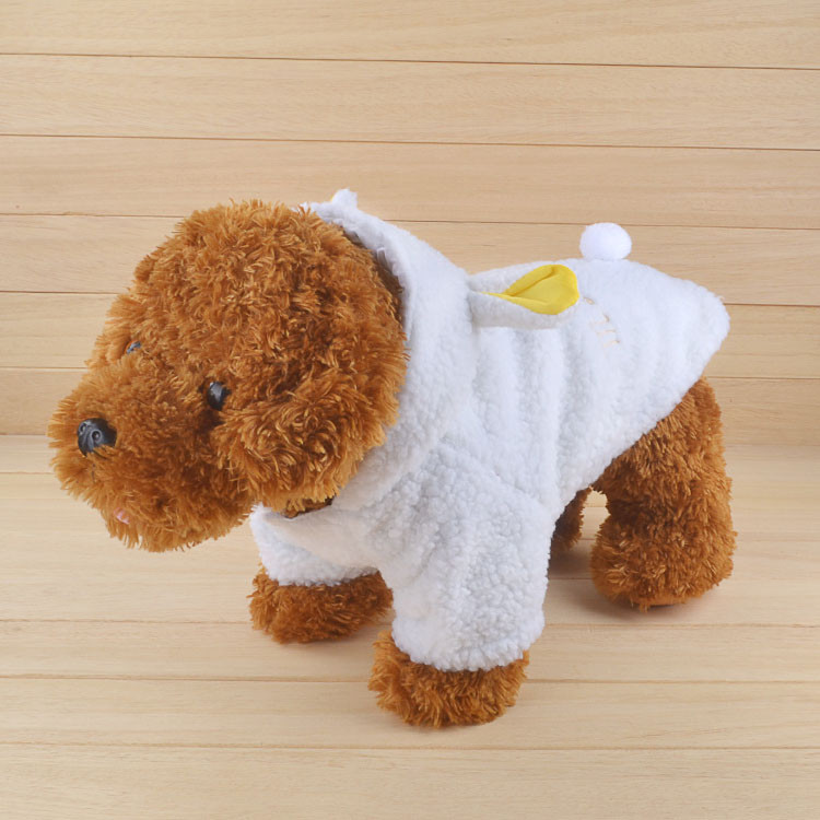 Fashion Pet Costume Samll Dog Clothes Coat White Sheep Puppy Hoodie Chihuahua Clothing In Winter Warm Apparel Size XS S M L XL 1161