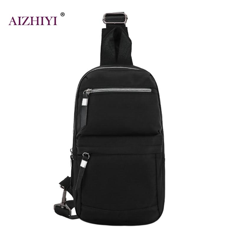Oxford Men/Women Chest Pack Waterproof Shoulder Strap Back Bag Crossbody Bags for Women Sling Shoulder Bag Back Pack Travel